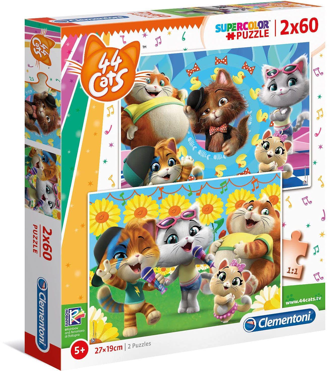 Clementoni 21607 2 x 60 szt. Puzzle - 44 koty