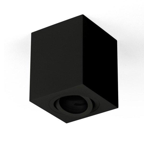 Oprawa sufitowa spot kostka natynkowa CROSTI SASARI SQ 145 S czarny szer. 9cm