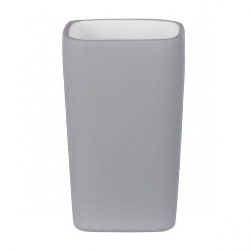 Ceramiczny kubek na szczoteczki szary