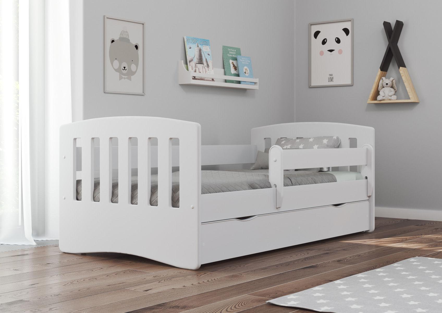 Łóżko dziecięce CLASSIC 1 140x80 białe