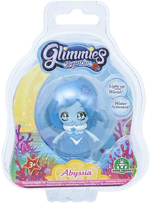 Glimmies 70040031 Aquaria Fee 6 cm Abyssia mini lalki z funkcją świecenia