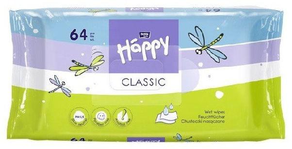 Bella Happy chusteczki nawilżane Classic, 64 szt.