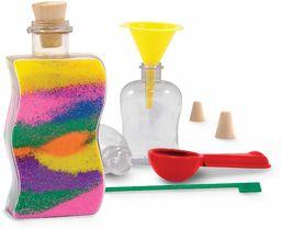 Melissa & Doug Stworzony przez Me! Zestaw rzemieślniczy butelek z piaskiem: 3 butelki, 6 torebek z kolorowym piaskiem, narzędzie projektowe