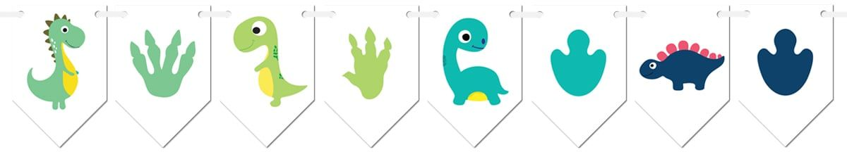 Baner flagi Wesołe Dinozaury - 300 cm