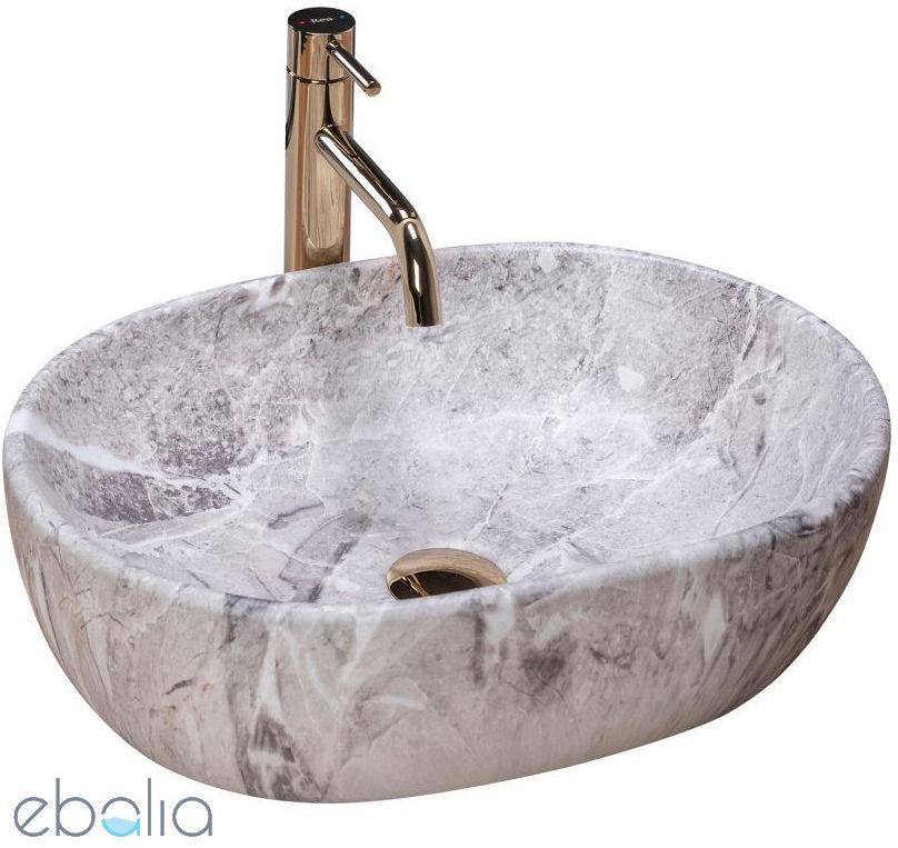 Umywalka nablatowa 50 Lara Stone Rea (REA-U9888)
