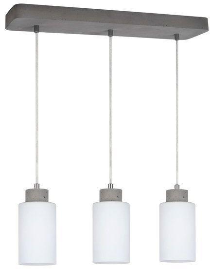 Lampa wisząca KARLA 3-punktowa lampa o szarej betonowej podstawie zakończona białymi kloszami 9160336