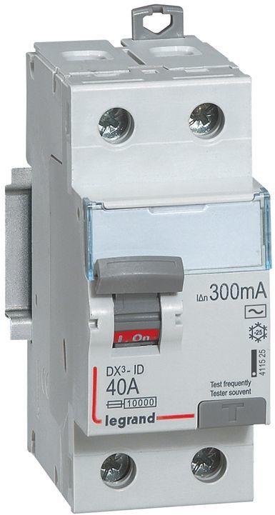 Wyłącznik różnicowoprądowy 2P 40A 0,3A typ AC P302 DX3 411525