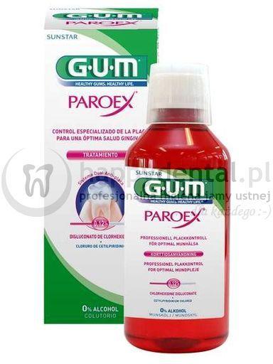 GUM PAROEX 0,12% - płyn do terapii krótkoterminowej z chlorheksydyną - 300ml