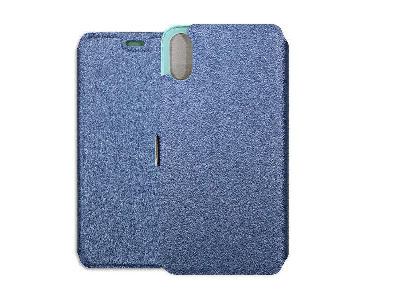 Apple iPhone XS - etui na telefon Wallet Book - granatowy