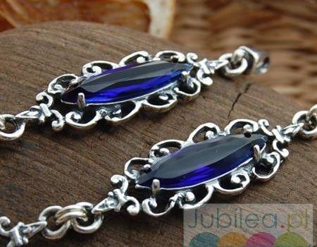 Tomara - srebrna bransoletka z szafirem