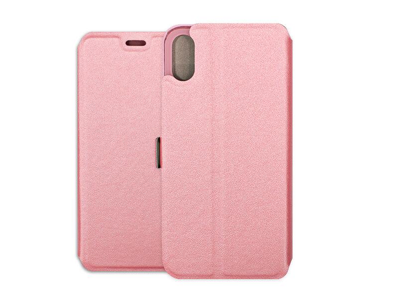Apple iPhone XS - etui na telefon Wallet Book - różowy