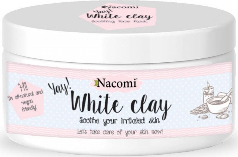 Nacomi - White Clay - Biała glinka - Maseczka łagodząca - 50g