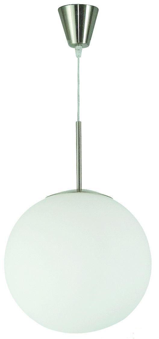 Globo lampa wisząca Balla 1583 biały szklany klosz 20cm