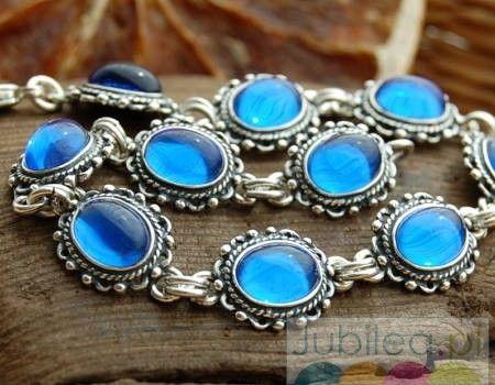 Aragonia - srebrna bransoletka z szafirami