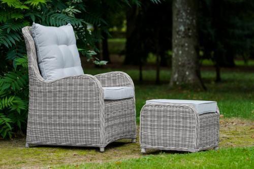 Krzesło ogrodowe SECONDO plus pufa