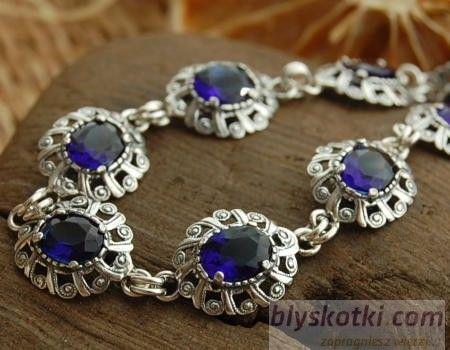 Joanet - srebrna bransoletka z szafirem