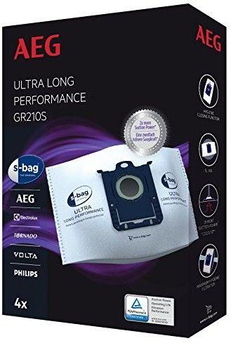 Worki syntetyczne AEG Ultra Long Performance E210S S-Bag do odkurzacza i odkurzacza piorącego 3szt AEG