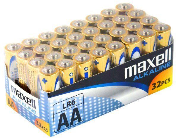 32 x bateria alkaliczna Maxell Alkaline LR6 / AA
