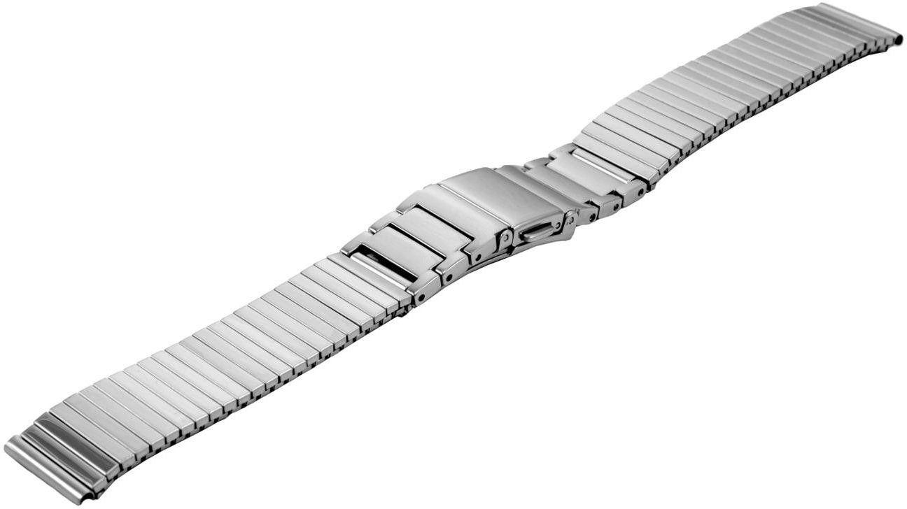 Bransoleta rozciągana do zegarka 16 mm Bisset BM-106/16 Silver - srebrny
