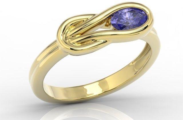 Kolekcja: pierścionek, kolczyki i wisiorek z żółtego złota z tanzanitem bp-69z-kol