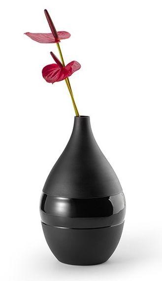 Philippi NEGRETTO Wazon do Kwiatów 31 cm Czarny