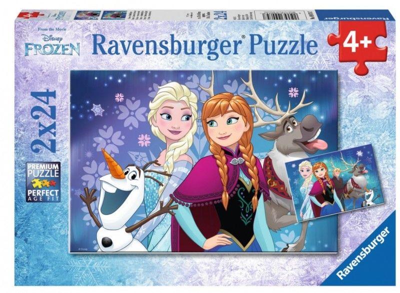 Puzzle 2x24 elementy - Kraina Lodu, Zorza polarna (GXP-559037)
