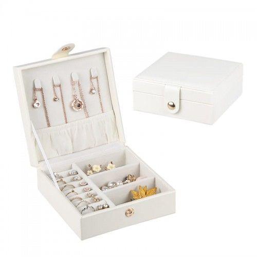 Kwadratowe pudełko na biżuterię białe