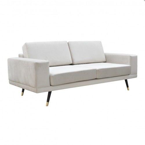 Sofa SO SIMPLE! aksamit jasny beż