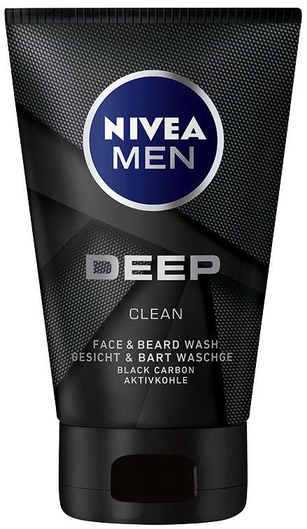 Nivea Men Deep żel do mycia do twarzy i zarostu 100 ml