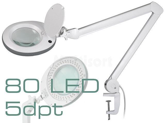 Lupa podświetlana stołowa 5 dioptrii fi 120mm z 80 LED