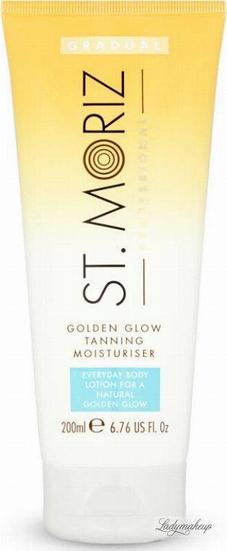 ST. MORIZ - Golden Glow Tanning Moisturiser - Nawilżający balsam stopniowo budujący opaleniznę - 200 ml