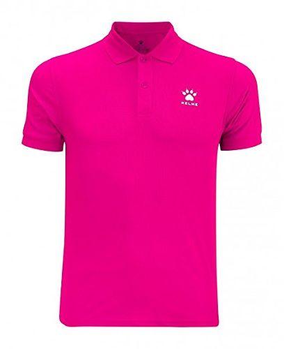 Kelme M/C Street, koszulka polo XS różowa (fuksja)