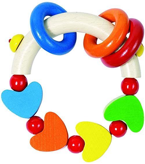 Heimess 734220 drewniany pierścień dotykowy (Rainbow of Hearts)