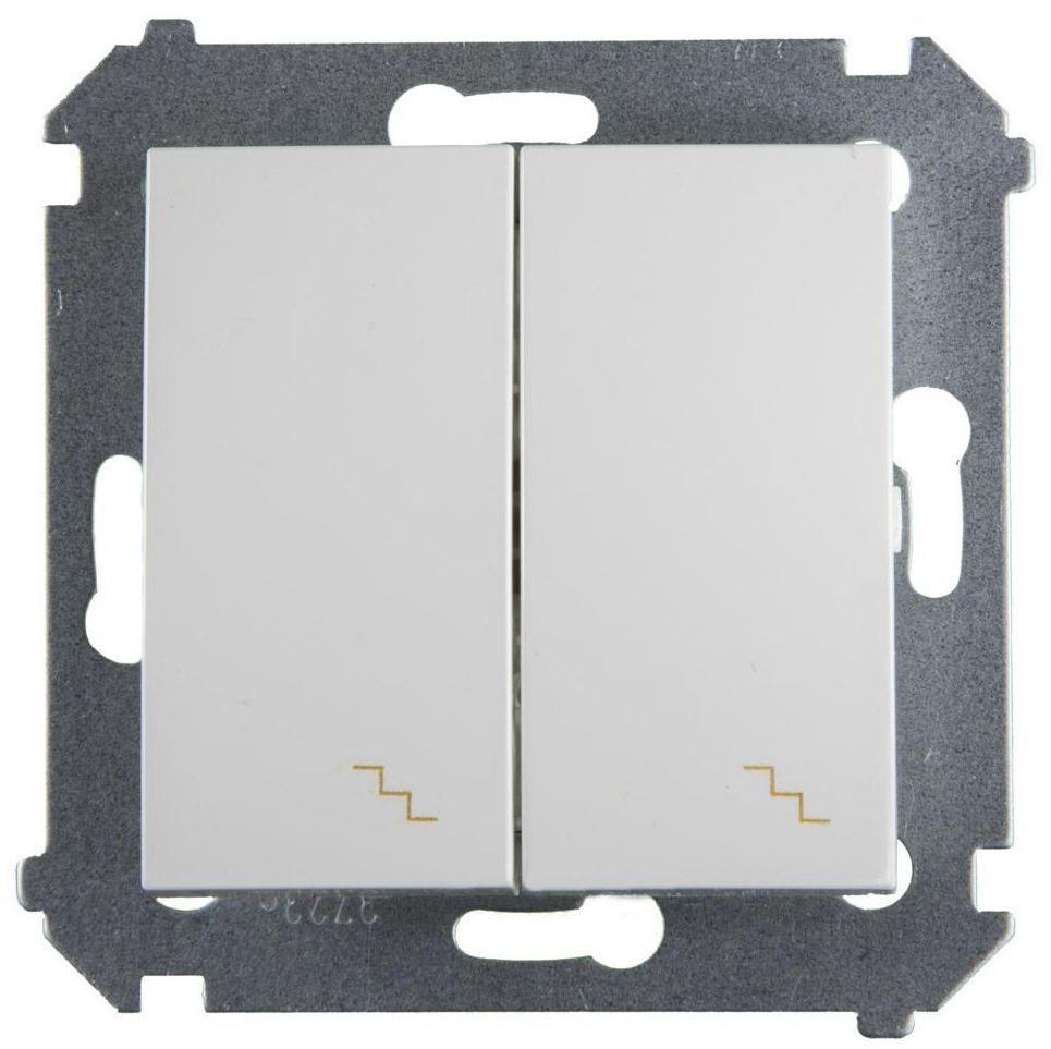 Włącznik podwójny PODWÓJNY SIMON 54 Biały SIMON