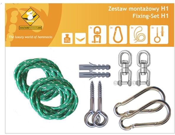 Zestaw montażowy H1 do hamaków, Zielony koala/zh1