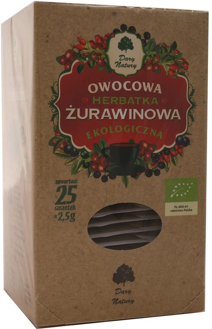 Herbatka żurawinowa BIO - Dary Natury - 25 saszetek