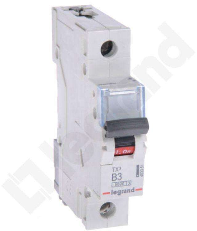 Wyłącznik nadprądowy 1P B 10A 6kA AC S301 DX3 407430