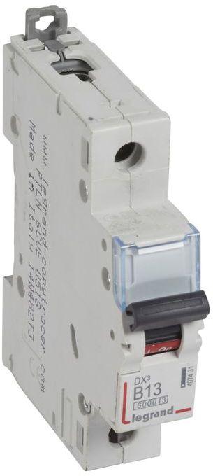 Wyłącznik nadprądowy 1P B 13A 6kA AC S301 DX3 407431