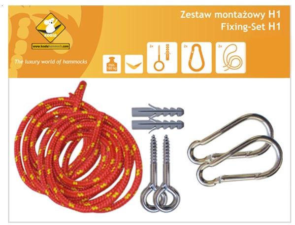 Zestaw montażowy H1_1 do hamaków, Czerwony koala/zh1_1