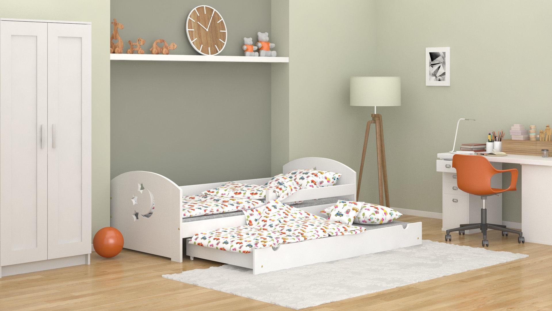 Łóżko dla dzieci Molly Duo z szufladą z funkcją spania