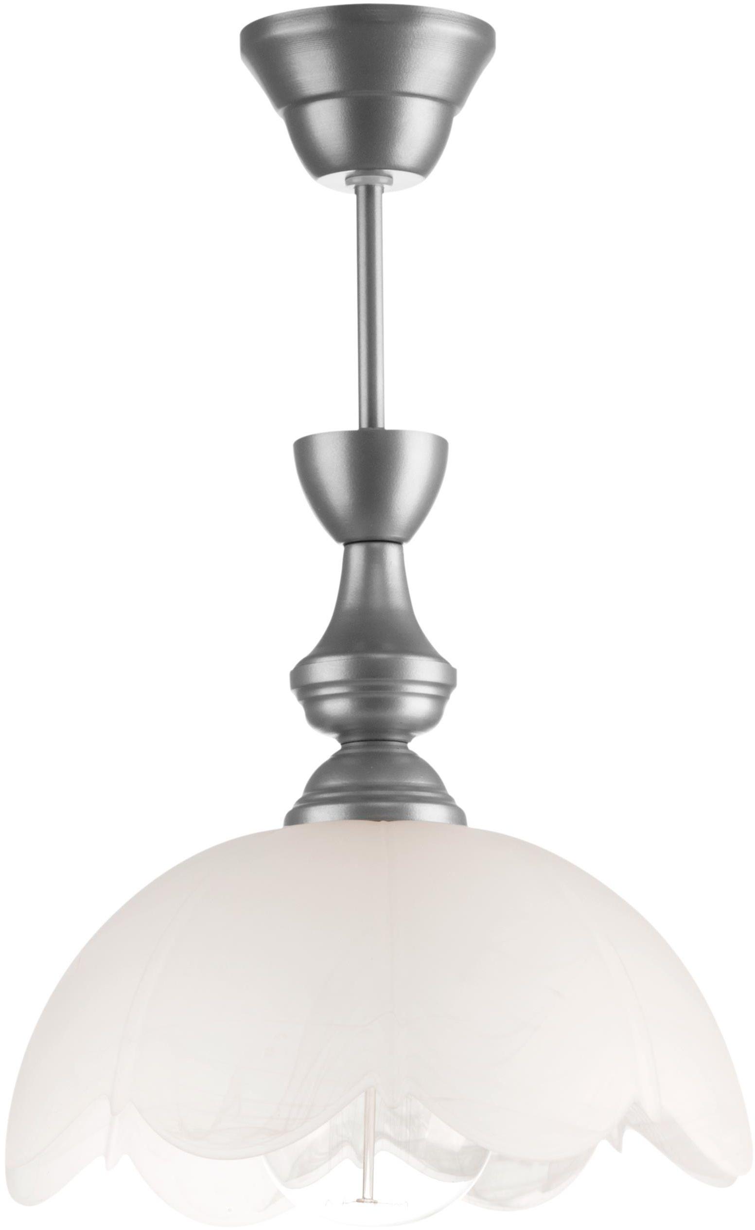 Lampex Narcyz 523/1 lampa wisząca klasyczna szklany klosz 1x60W E27 25cm