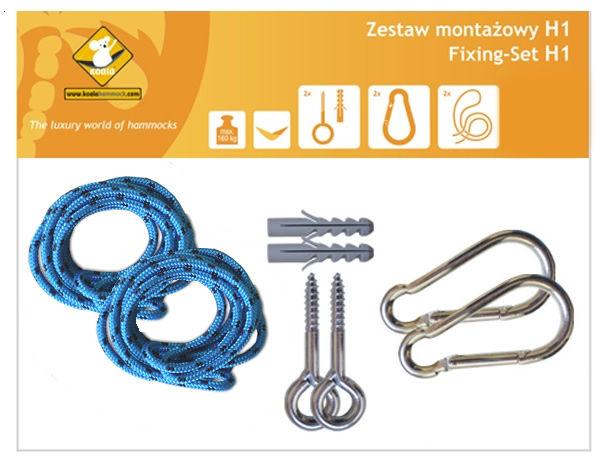 Zestaw montażowy H1_1 do hamaków, Niebieski koala/zh1_1