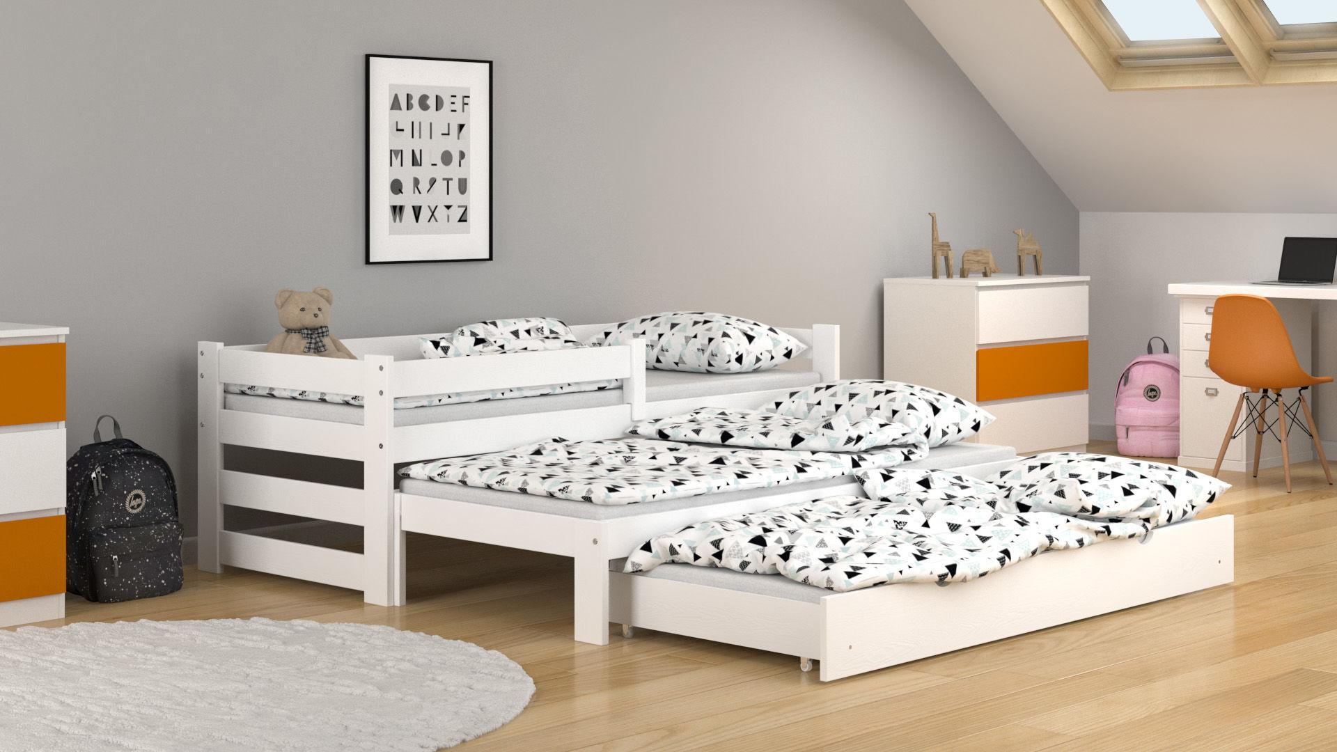 Łóżko dla dzieci Paul Trio z szufladą z funkcją spania