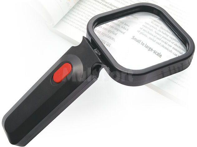 Lupa ręczna szklana 1,75x/80mm podświetlana LED