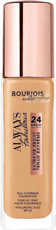 Bourjois - ALWAYS FABULOUS - 24H FULL COVERAGE FOUNDATION - Podkład kryjący - 30 ml - 310 - BEIGE