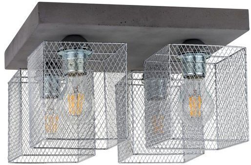 Lampa sufitowa GITTAN 4-punktowa lampa betonowa szara podstawa z metalowymi kloszami 8172436