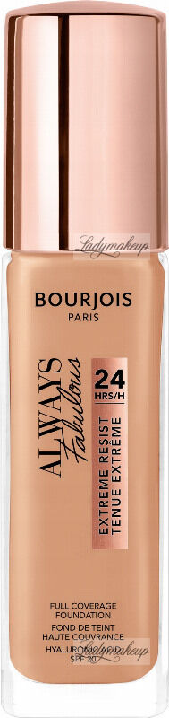 Bourjois - ALWAYS FABULOUS - 24H FULL COVERAGE FOUNDATION - Podkład kryjący - 30 ml - 400 - ROSE BEIGE
