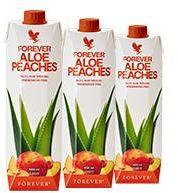 Forever Aloe Peaches - nektar z miąższem z liści aloesu o smaku brzoskwiniowym, Zestaw 3 x 1l