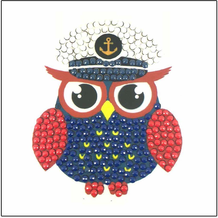 Crystal Art Captain Owl