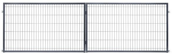 Brama panelowa 400 x 120 cm antracyt